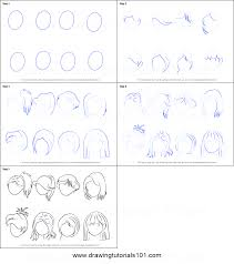 how to draw anime girl hair step by step for beginners. Unique How How To Draw Anime Hair  Female Printable Step By Drawing Sheet   DrawingTutorials101com To Girl Step By For Beginners N