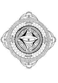 Polynesian Mandala With Face Bird And