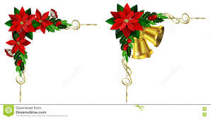 Poinsettia Designs Christmas Elements For Your Designs Stock Vector