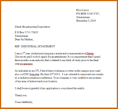 Application Letter For Industrial And How Write An Cooperative