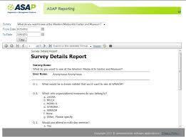 Survey Report Report Sample Survey Details Report Asap