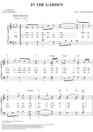 in the garden sheet music. Plain Music In The Garden Sheet Music By C Austin Miles To