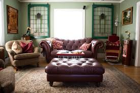 eclectic crafts room. Inspiring Stained Glass Windows For Decoration In Your Home: Nice Eclectic Living Room With Crafts