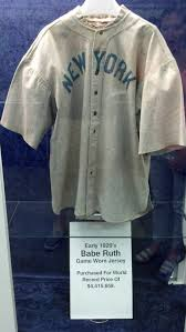 national sports collectors convention mini photo essay wscii finally there s this game used babe ruth yankees jersey which at auction for the unthinkable sum of 4 4 million it s a good thing we saw this on