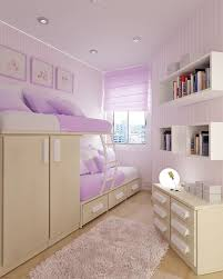Shelves For Girls Bedroom Minimalist Bedroom Design Idea For Shared Teenage Girl With