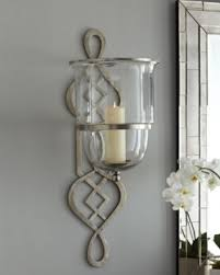 Hurricane candle sconces wall