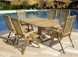 small teak outdoor dining set