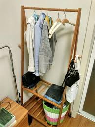 wooden clothes movable hanger carts wood portable rack diy shelf