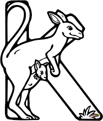 Small Picture Coloring Pages Animals Wallaby Coloring Page Kangaroo Coloring