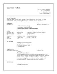 resume objective clerical clerical resume sample objective medical clerical resume examples