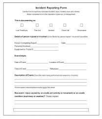 Accident Injury Report Form Template 37 Incident Report Templates