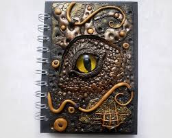 polymer clay gold dragon eye journal by designsbyjo on deviantart