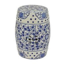 ceramic garden stools.  Garden Blue And White Ceramic Garden Stool And Stools E
