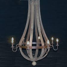 wine barrel chandelier 8 arm