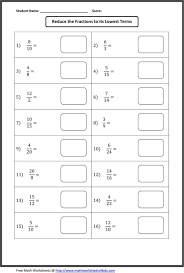 Fractions Worksheets Printable For Teachers In Simplest Form ...