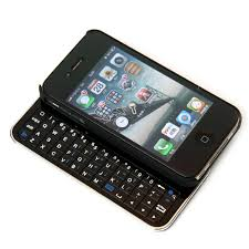 Black Sliding Wireless Bluetooth Keyboard Hard Case for iPhone5
