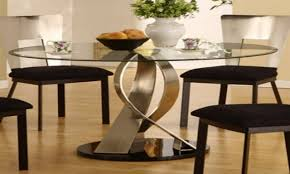 smart idea modern round glass dining table 23