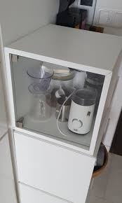 ikea cabinet eket with glass door white