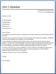 Cover Letter For A Server Restaurant Server Cover Letter Samples Creative Resume Design Fine