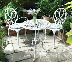 white metal patio chairs. Metal Patio Furniture Vintage White Chairs T