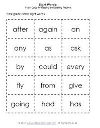 Second Grade Sight Words Flash Cards First Grade Sight Words Flash Cards
