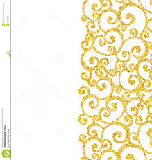 Gold And White Background Design Stock Illustration Abstract Vector Gold Dust Glitter Swirl