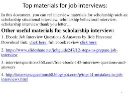 Scholarship Interview Questions Top 36 Scholarship Interview Questions With Answers Pdf