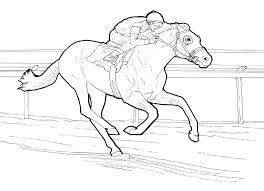 Small Picture Horse With Jockey Coloring Pages Coloring Pages