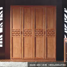 All solid wood oak wood wardrobe modern Chinese bedroom furniture