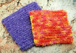 Red Heart Scrubby Yarn Patterns Beauteous Ravelry DoubleSided Scrubby Dishcloth Pattern By Kara Gunza