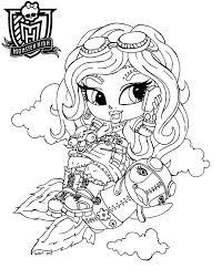 Monster High Coloring Pages Baby Download Free Coloring Book