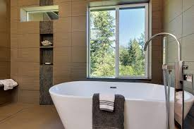 image of freestanding bathtubs with shower