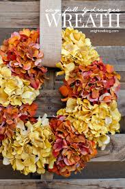 Cheap easy fall decorating ideas Interior Fall Hydrangea Wreath From Night Owl The Idea Room Inexpensive Fall Decorating Ideas The Idea Room