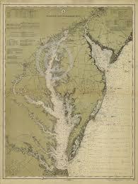 Chesapeake Bay Maps Charts Details About 1855 Coastal Survey Map Nautical Chart Of The