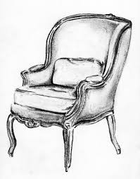 Furniture Sketches Bergere Sketch Andrea Andert Illustration Pinterest