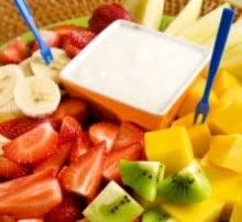 fresh fruit with dip