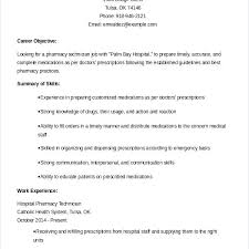 Pharmacy Intern Resume Tech Examples Samples Sample Resumes