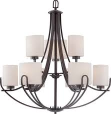 lola bronze chandelier oval glass shades 30 wx31 h