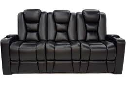 recliner couch in bonded black leather