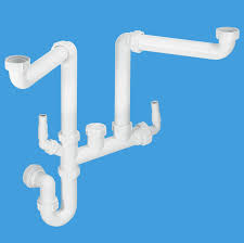 mcalpine double bowl space saving kitchen sink trap ssk2 40004021 plumbers mate ltd