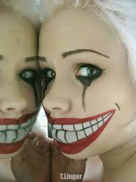 easy scary clown makeup inspirational fake smile wendy you could do this for the r