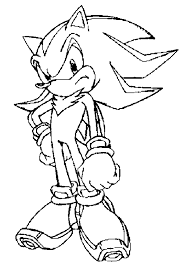 Sonic And Shadow Colouring Pages Free Coloring Pages On Art