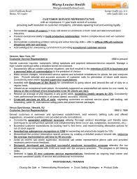 Customer Service Representative Resume Musiccityspiritsandcocktail Com