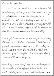 advanced comment on investigation GCSE com