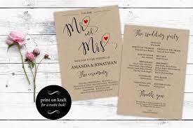Printable Wedding Program Templates Free Wedding Program Templates Wedding Program Ideas