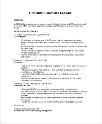 Firefighter Paramedic Resume Templates - Starengineering