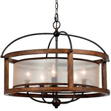 iron wood chandelier 5 lights 26 wx21 h