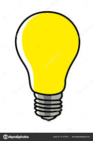 Light Bulb Graphic Simple Graphic Light Bulb Isolated White Background Stock
