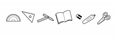 文房具のモノクロライン 無料イラスト素材素材ラボ