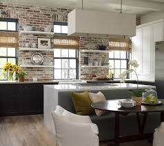 carrera marble and brick come together in the beautiful kitchen design kevin